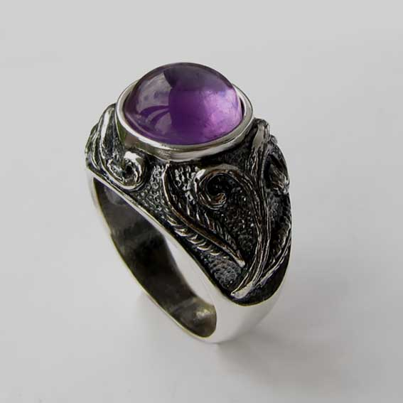 Кольцо с аметистом, арт.ШАХ3М