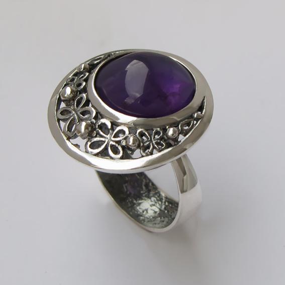 Кольцо с аметистом, арт. УЗ312