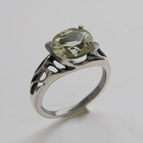 Кольцо с аметистом зеленым, арт. ВЕ3