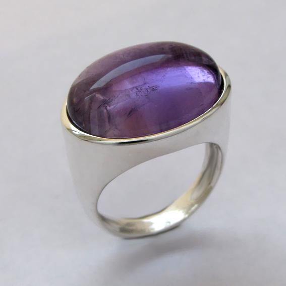 Кольцо с аметистом, арт.ВОВ315