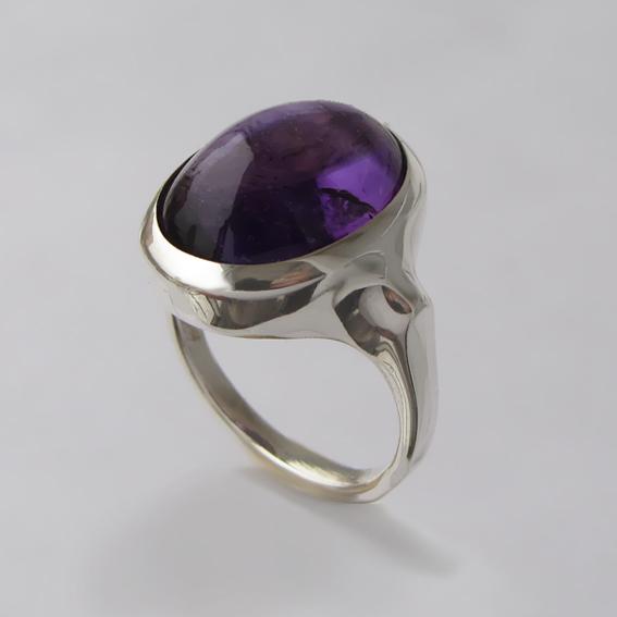 Кольцо из серебра с аметистом, арт. ЗЕ313Х