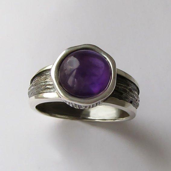 Кольцо с аметистом, арт. ПФ39