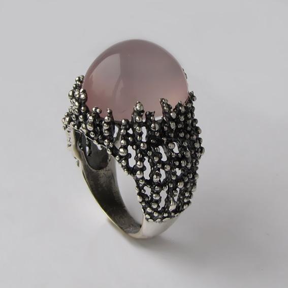 Кольцо серебряное с кварцем, арт.ГАУ3