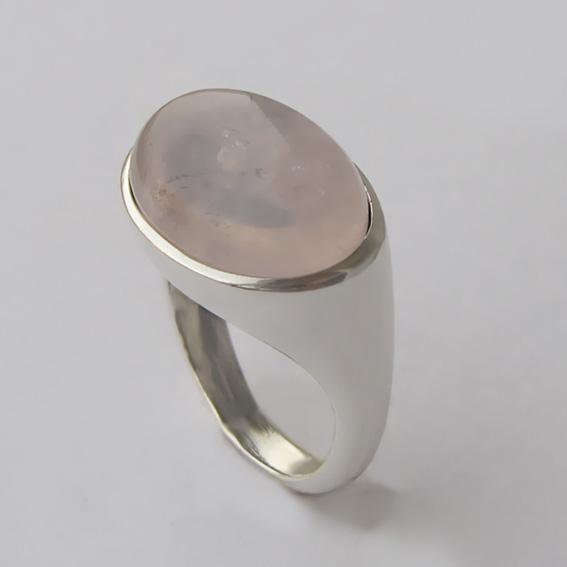 Кольцо серебряное с кварцем, арт.КОВ312