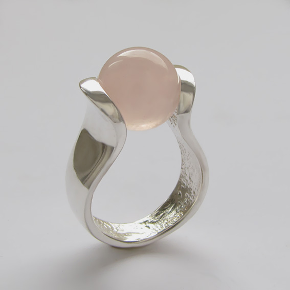 Кольцо из серебра с кварцем, арт.МРС3