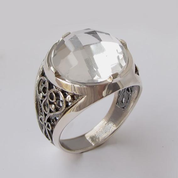 Кольцо с горным хрусталем, арт. ПЕР315
