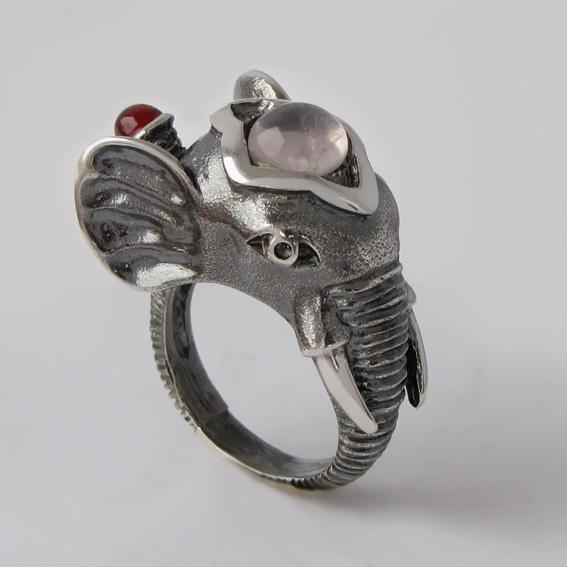 Кольцо с кварцем, арт. СЛОН3