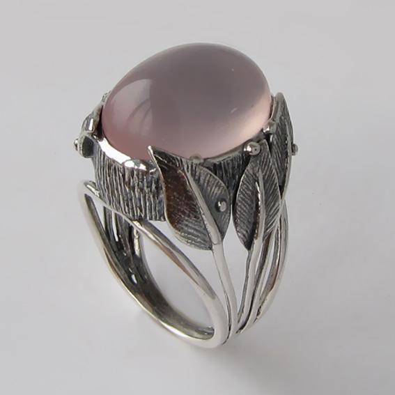 Кольцо серебряное с кварцем, арт.ВЕТ3Ч