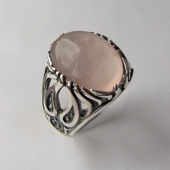 Серебряное кольцо с кварцем, арт. ОГ3