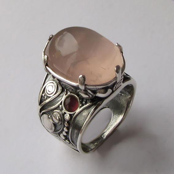 Кольцо с кварцем, арт. ПЕОР3