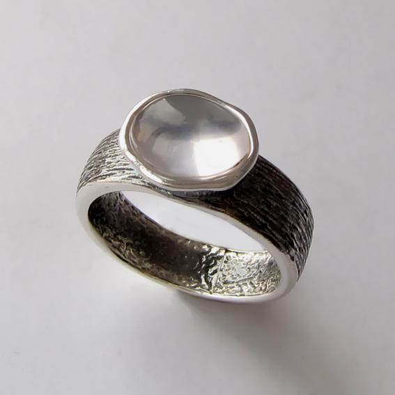 Кольцо с кварцем, арт. ПФОВ3