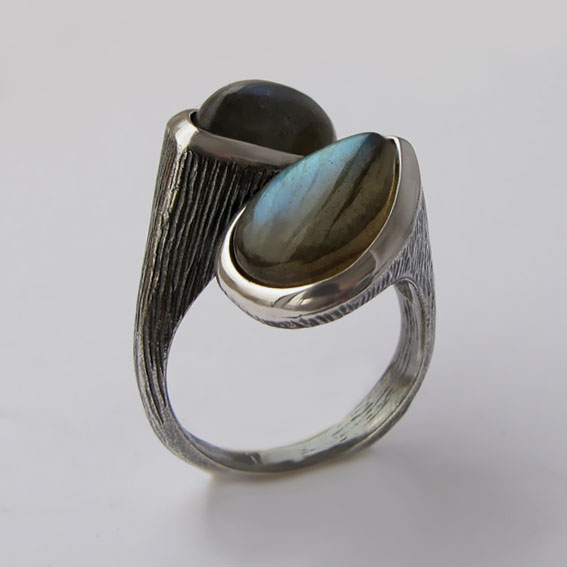 Кольцо с лабрадором, арт.2СЛЧ3