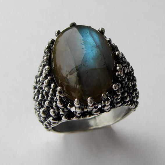 Кольцо с лабрадором, арт.ГАУ313