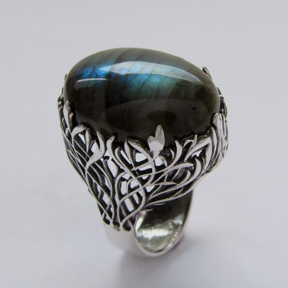Кольцо с лабрадором, арт. ЛИ318
