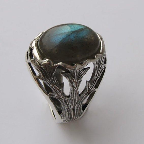 Кольцо с лабрадором, арт. ЛИН312
