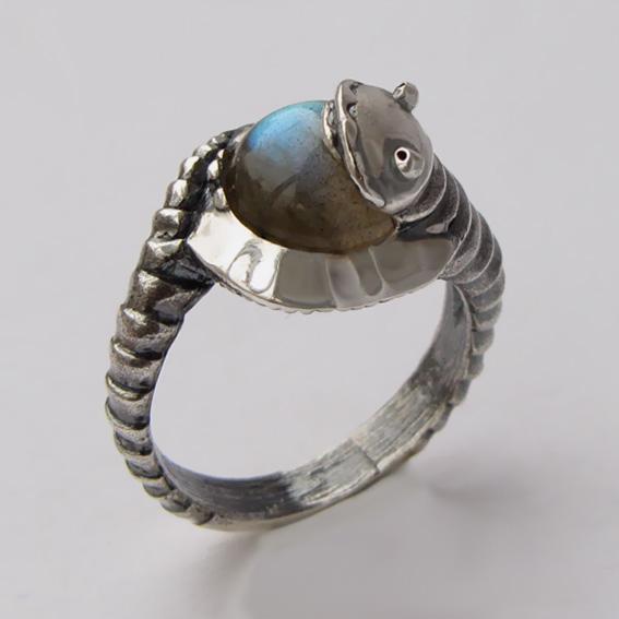 Кольцо с лабрадором, арт. ОНО3
