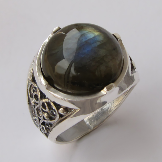 Кольцо с лабрадором, арт. ПЕР315