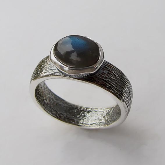 Кольцо с лабрадором, арт. ПФОВ3