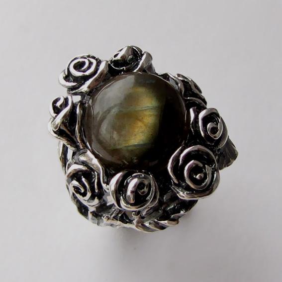 Кольцо с лабрадором, арт. РОЗ