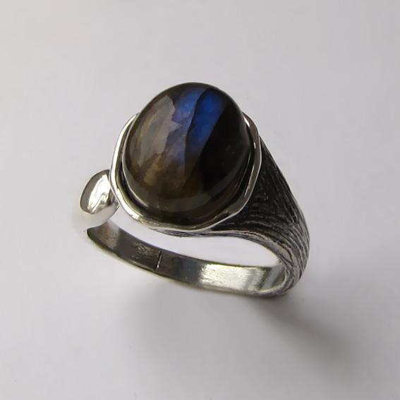 Кольцо с лабрадором, арт. ЧОВ3