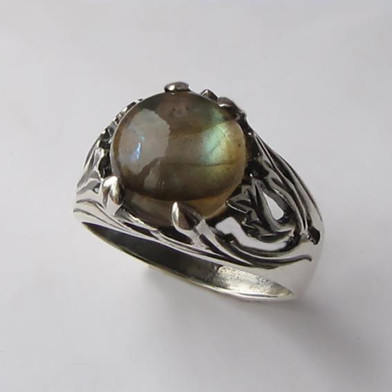 Кольцо с лабрадором, арт. ЛИА311