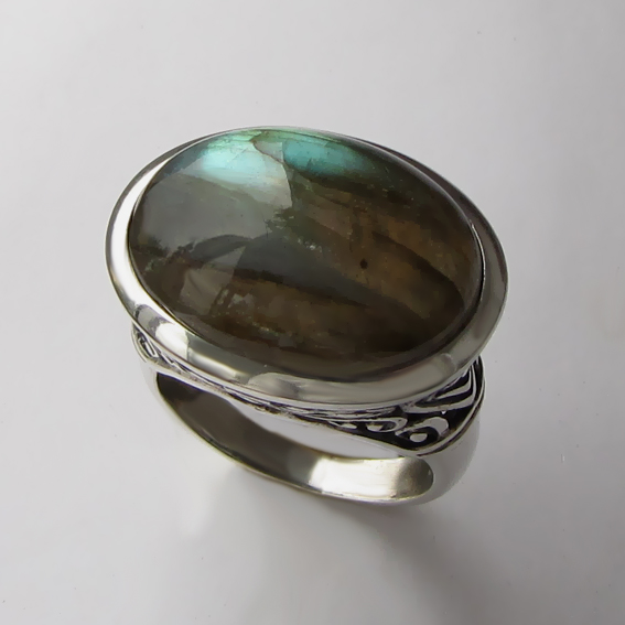 Кольцо с лабрадором, арт. ОВВ3