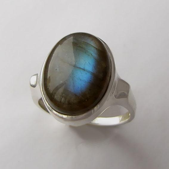 Кольцо с лабрадором, арт. ЗЕ312