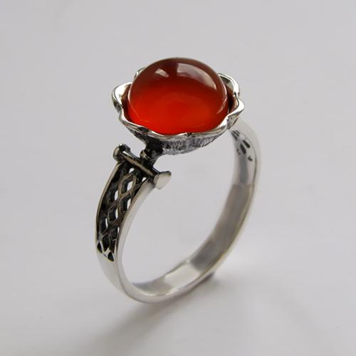 Кольцо с сердоликом, арт.ЦВСЕТ3