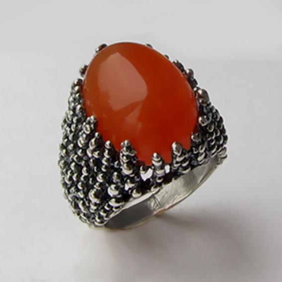 Кольцо серебряное с сердоликом, арт.ГАУ313