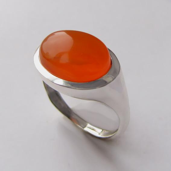 Кольцо с сердоликом, арт. КОВ310