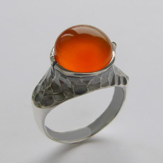 Кольцо с сердоликом, арт.КУВ3