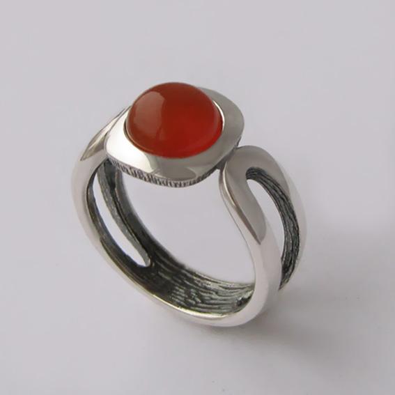 Кольцо с сердоликом, арт.ЛСП3
