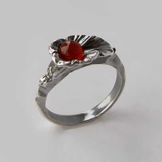 Кольцо с сердоликом, арт. ЛИС35