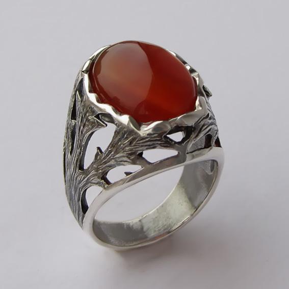 Кольцо с сердоликом, арт. ЛИН312