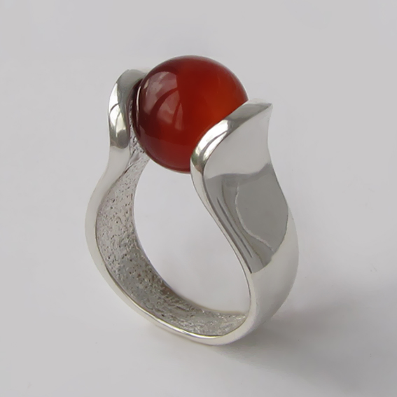 Кольцо с сердоликом, арт.МРС3