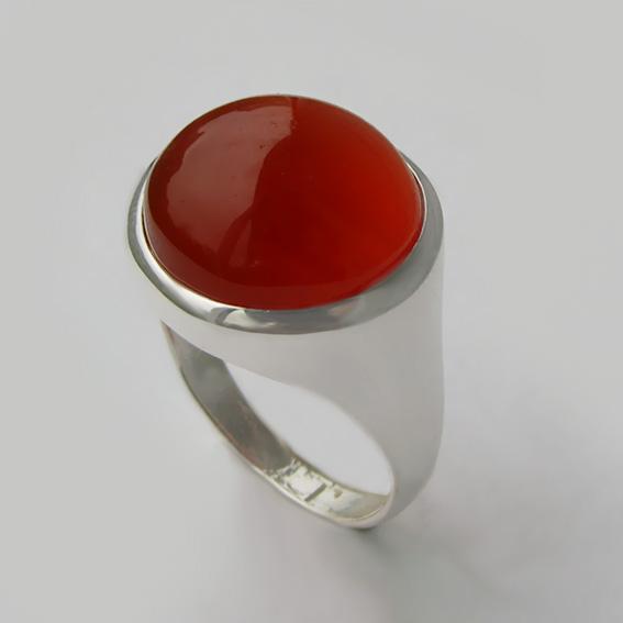 Кольцо с сердоликом, арт. НКН315