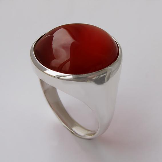 Кольцо с сердоликом, арт. НКН318