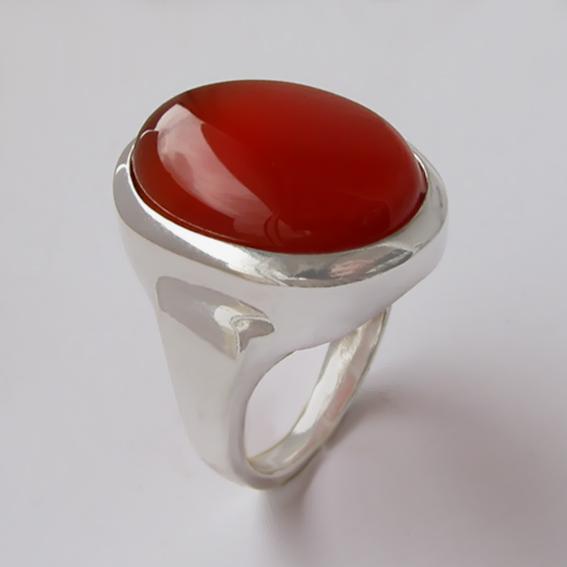 Кольцо с сердоликом, арт. ОВН315