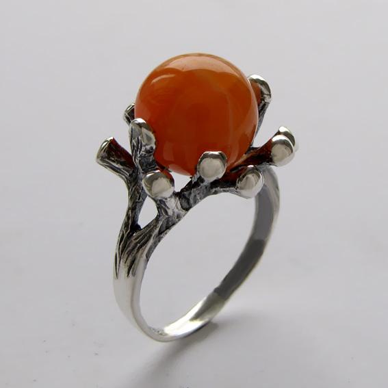 Кольцо с сердоликом, арт.Р3