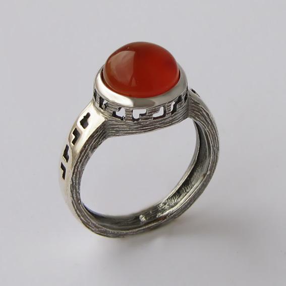 Кольцо с сердоликом, арт. СКИФ3Н