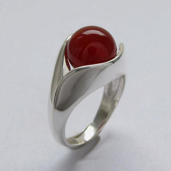 Кольцо с сердоликом УЛ3
