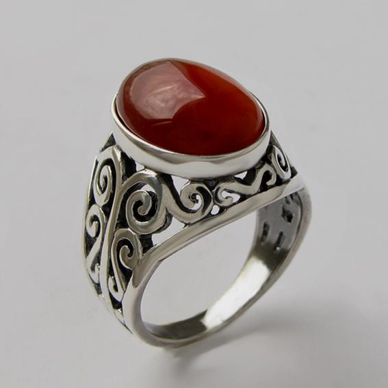 Кольцо с сердоликом, арт. УР3