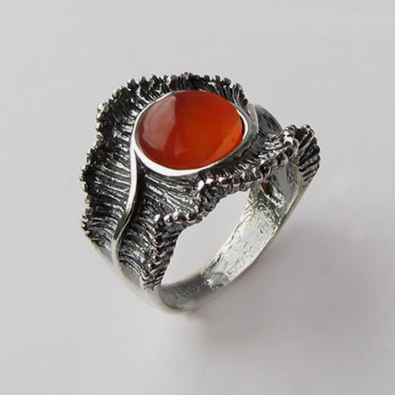 Кольцо с сердоликом, арт. ВОЛ32
