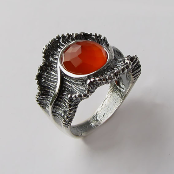 Кольцо с сердоликом, арт. ВОЛГ32