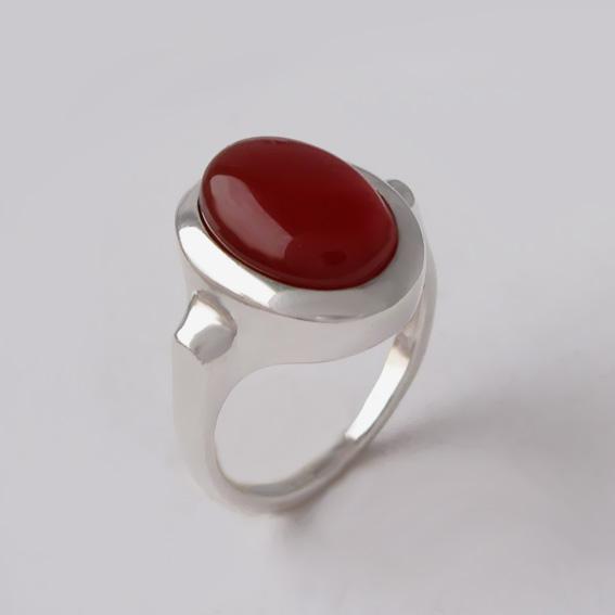 Кольцо с сердоликом, арт. ЗЕ310