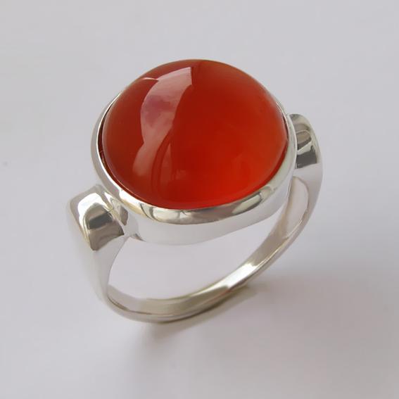 Кольцо с сердоликом, арт. ЗЕК315