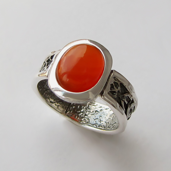 Кольцо с сердоликом, арт.ИЕОВ3