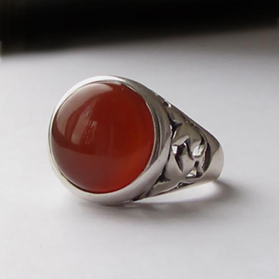 Кольцо с сердоликом, арт. КУ314