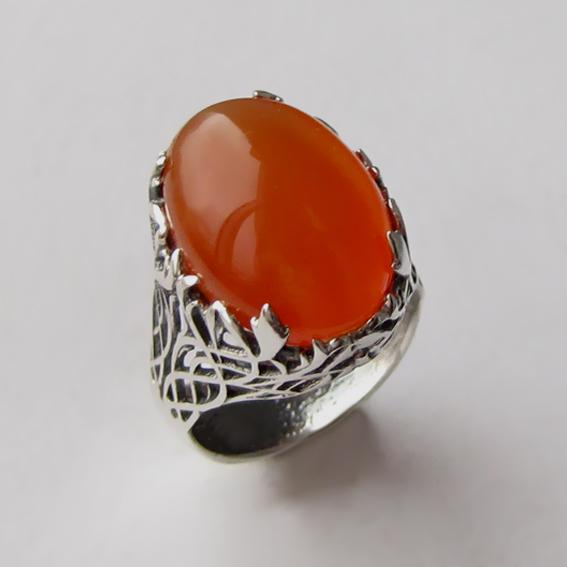 Кольцо с сердоликом, арт. ЛИ313