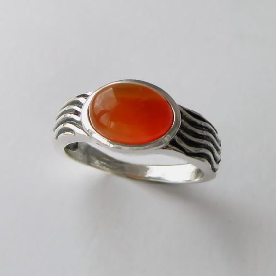 Кольцо с сердоликом, арт. МОР3